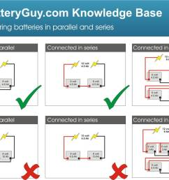 connecting batteries in series batteryguy com knowledge base to wire 6 volt batteries in series on wiring series parallel diagrams [ 1240 x 845 Pixel ]