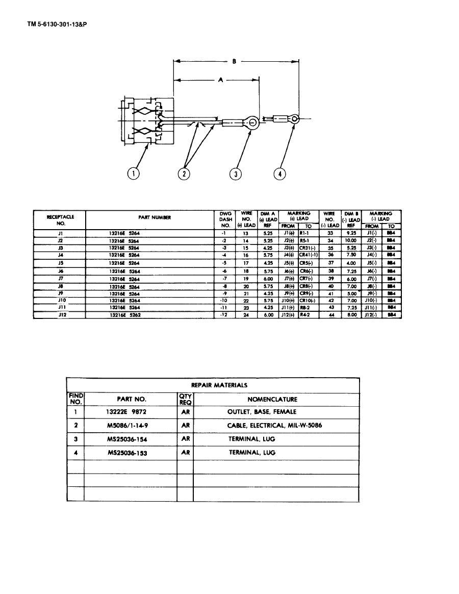 Figure 5-6. Receptacle Assy Repair P/N 13216E 5264
