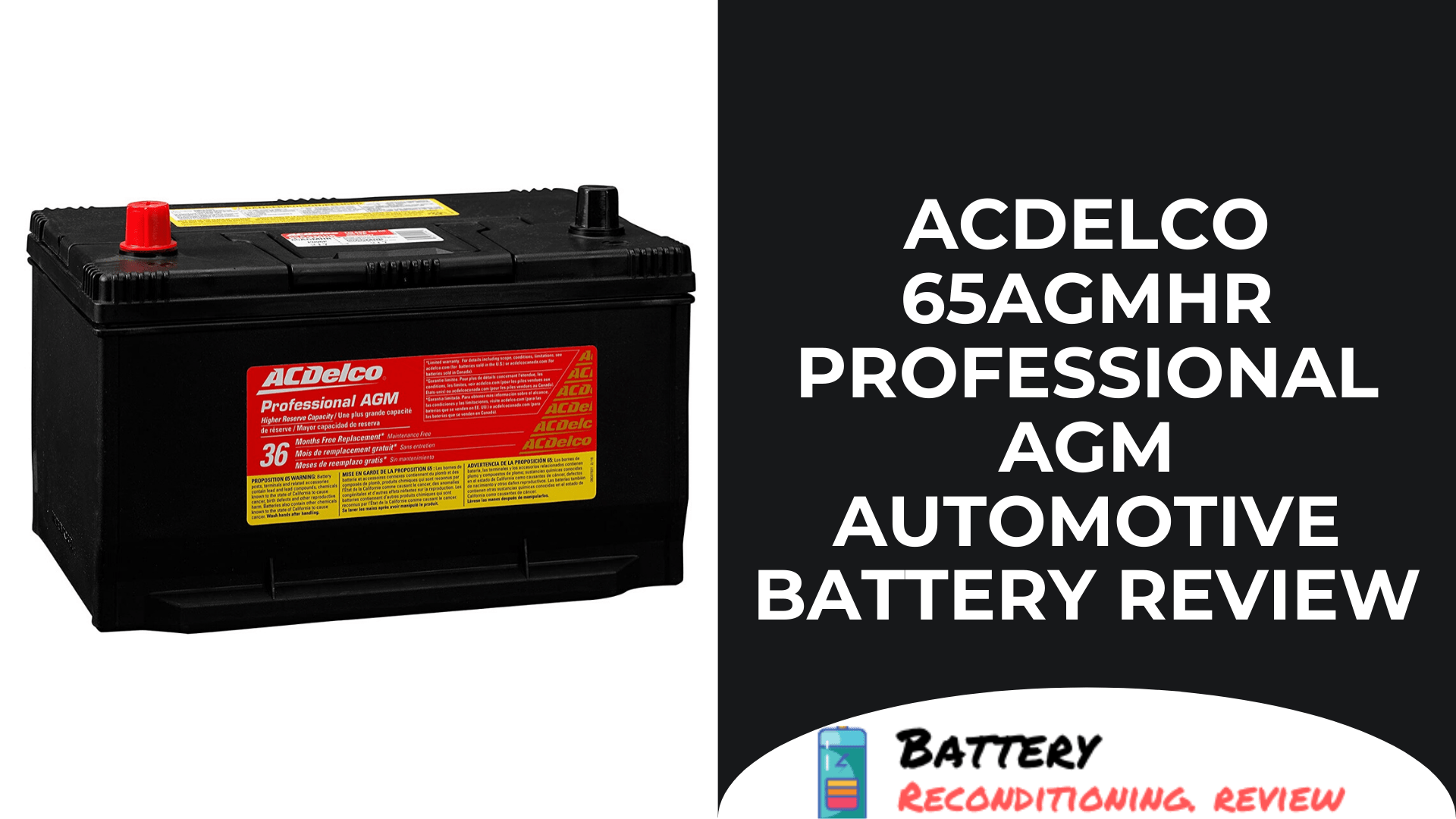 ACDelco 65AGMHR Professional AGM Automotive Battery Review