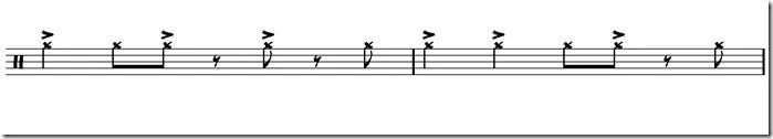 cascara cymbale accentuée