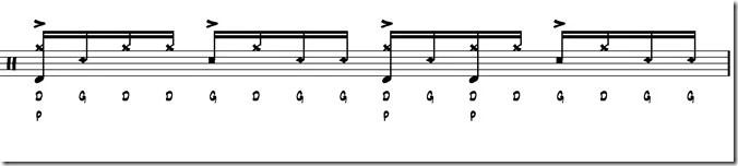 rythme simple paradiddle 4