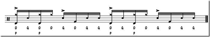 rythme simple paradiddle 8