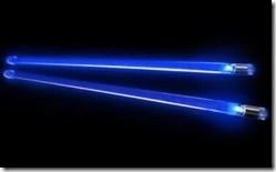 baguettes de batterie lumineuses