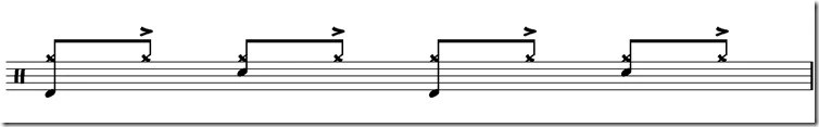 jouer de la battrie accents cymbale funk 2