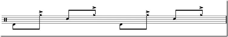 jouer de la battrie accents cymbale funk 3