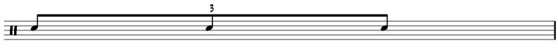 Lire une partition de batterie : le triolet