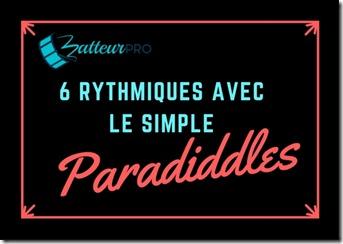 6 rythmiques simple paradiddle