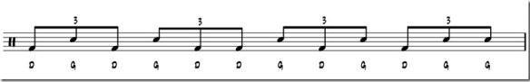 double paradiddle rythme 2