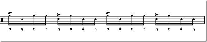 rythme simple paradiddle 2