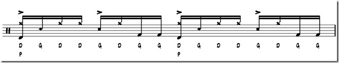 rythme simple paradiddle 6