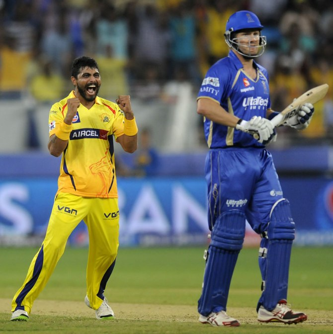 Jadeja ripped through Rajasthan's batting line-up with four wickets