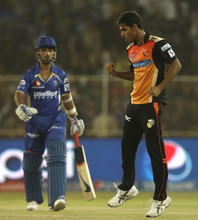 Kumar dismissed Rahane, Faulkner, Bhatia and Richardson