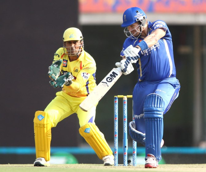 Watson smashed four sixes during his gutsy knock of 51