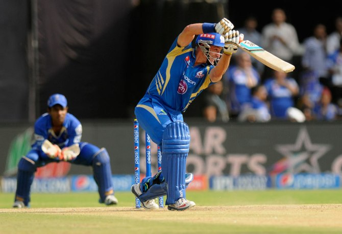 Hussey was named Man of the Match for his superb knock of 56