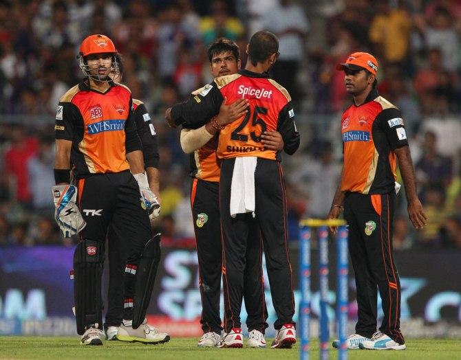 Sharma dismissed Uthappa, Pandey, Al Hasan and Pathan