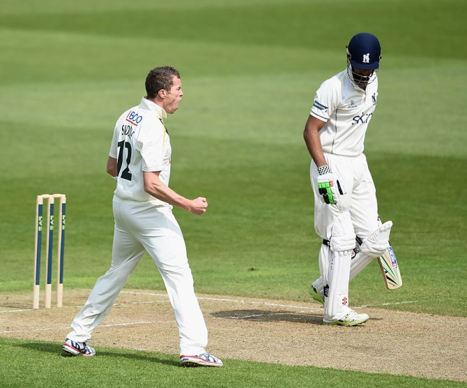 Siddle's last game for Nottinghamshire will come against Lancashire on July 13
