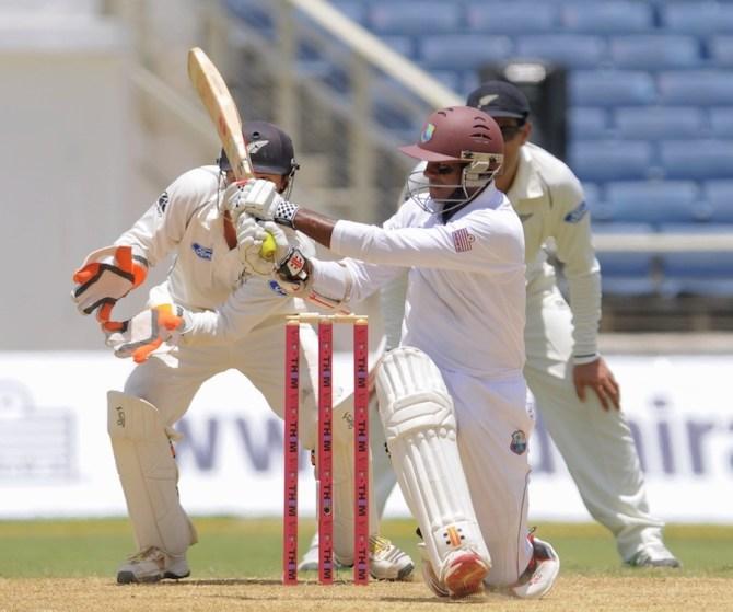Chanderpaul was unbeaten after making a gutsy 84