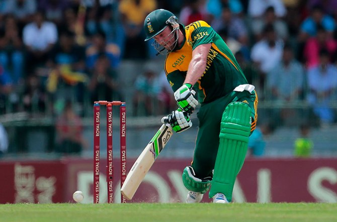 De Villiers struck five boundaries and a six during his knock of 75