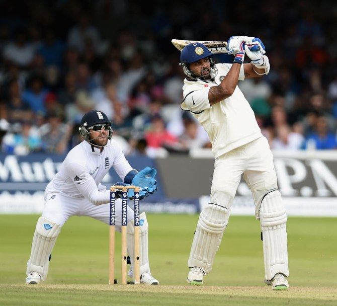 Vijay frustrated England with his unbeaten knock of 59