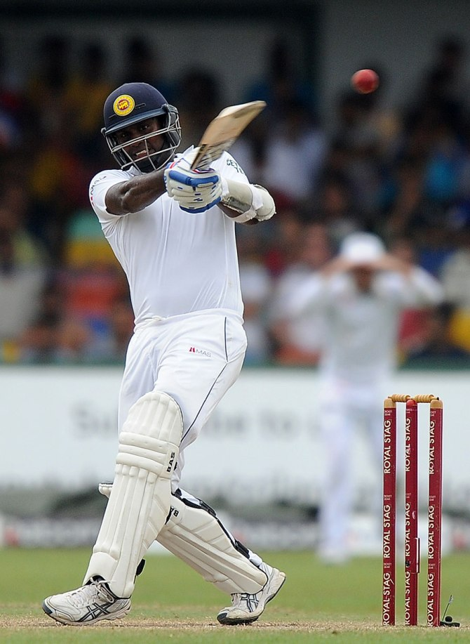 Mathews' good form with the bat continued