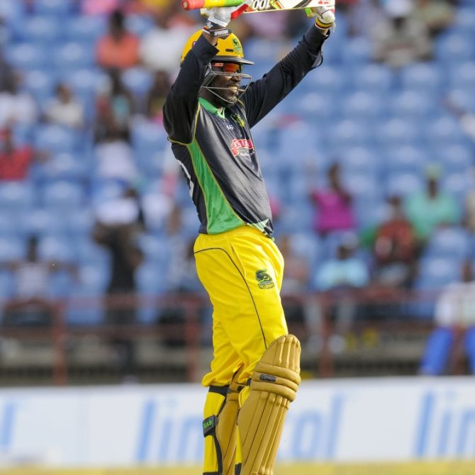Gayle walloped 10 sixes during his match-winning knock of 111
