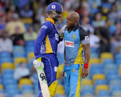 The altercation occurred after Malik was clean bowled by Best