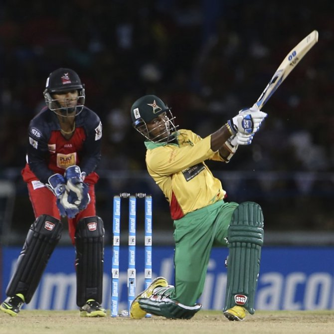Ramdin walloped six boundaries and six sixes during his entertaining innings of 843