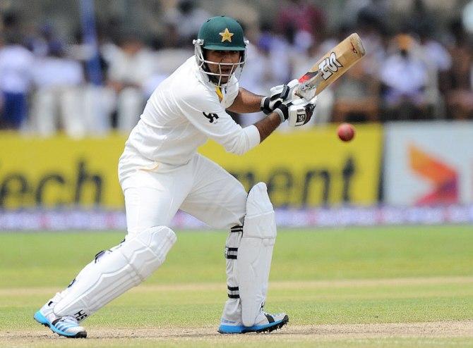 Ahmed scored his second Test half-century