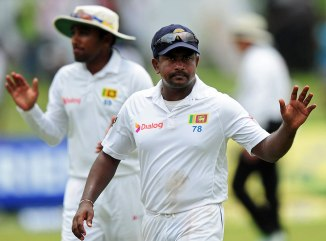Herath became the first left-arm spinner to take nine wickets in a Test innings