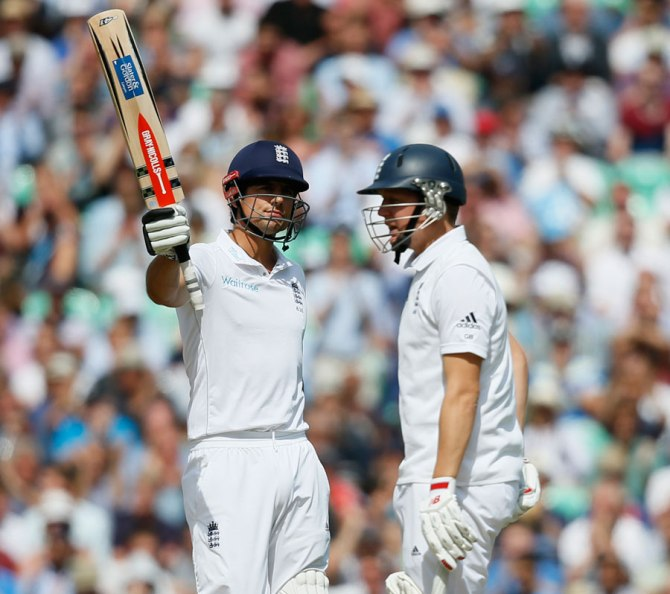 Cook hit nine boundaries during his knock of 79