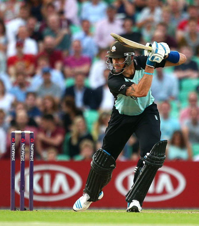 Pietersen failed to score a single half-century in the 12 T20s he played for Surrey