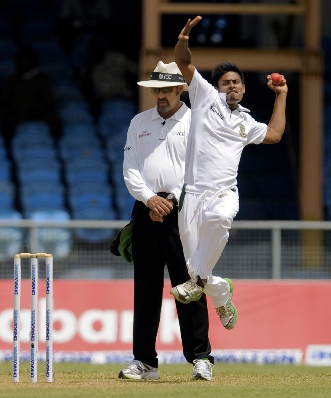Islam became the sixth Bangladeshi bowler to take a five-wicket haul on debut