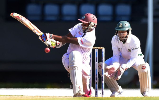 Chanderpaul struck five boundaries during his unbeaten knock of 63