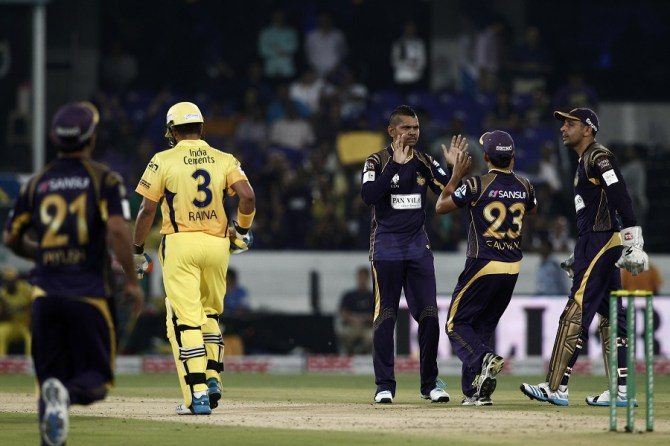 Narine finished with spectacular figures of 1-9 off his four overs