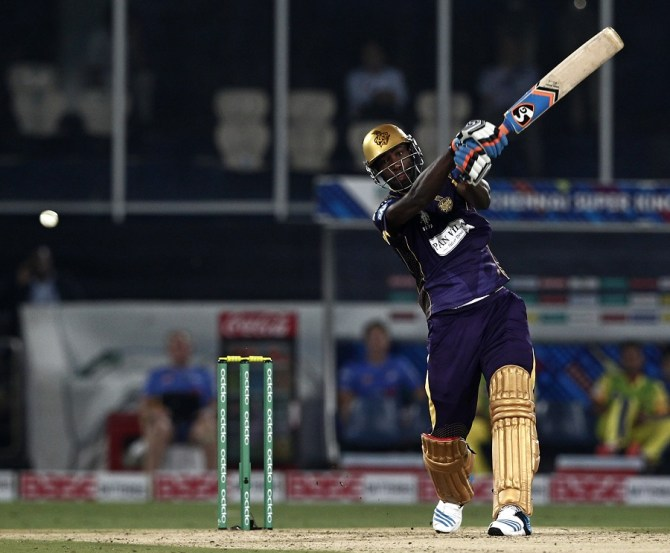 Russell was named Man of the Match for his crucial knock of 58