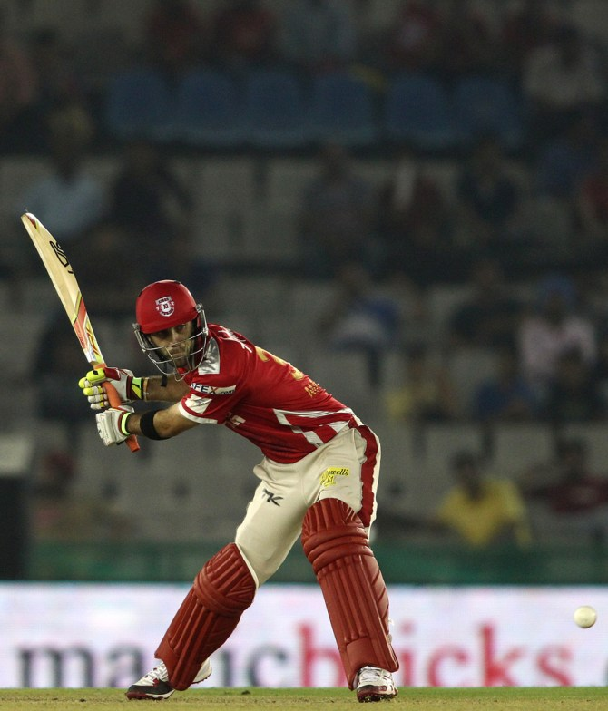 Maxwell smashed four boundaries and two sixes during his entertaining knock of 43