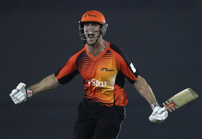 Marsh celebrates after leading his team to victory