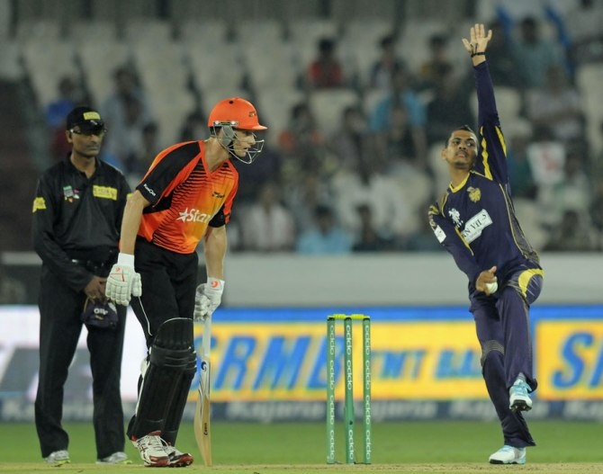 Narine dismissed Whiteman, Agar, Turner and Arafat