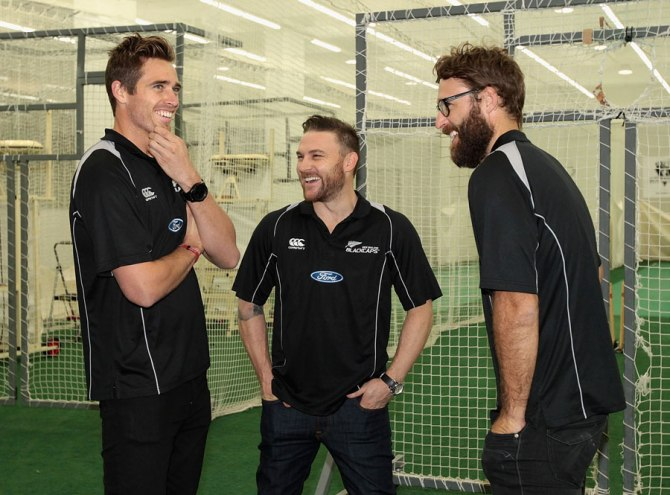 Southee (left) has fully recovered from his shoulder injury