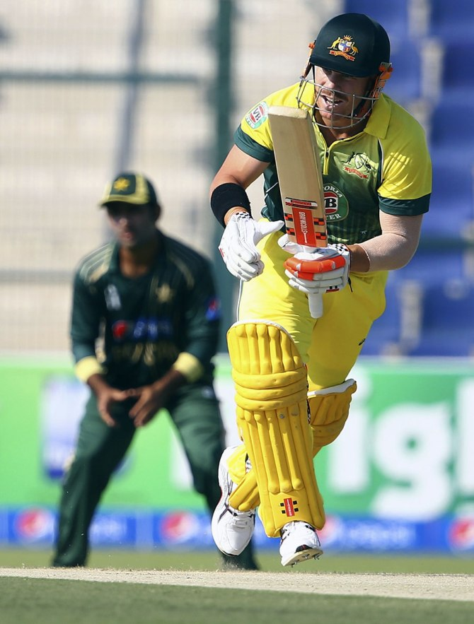 Warner hit six boundaries and a six during his knock of 56