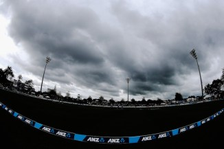 The heavens parted just 30 overs into South Africa's innings
