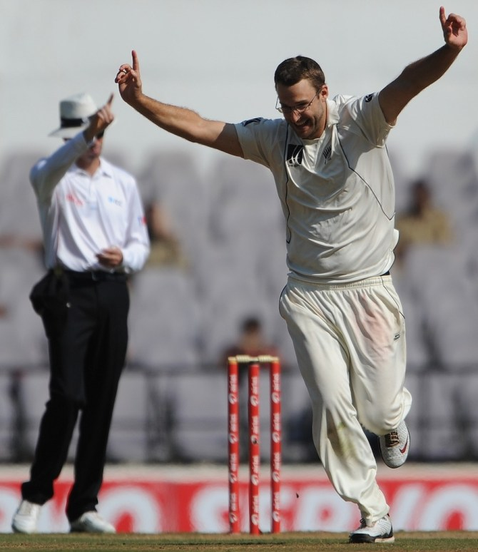 Vettori's last Test match for New Zealand came against the West Indies in July 2012