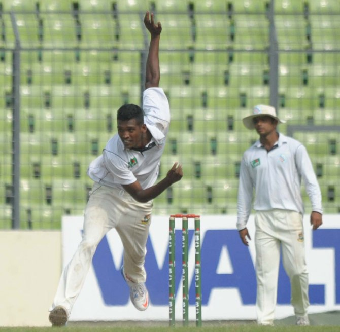 All of Hossain's deliveries were found to be within the 15-degree flex limit