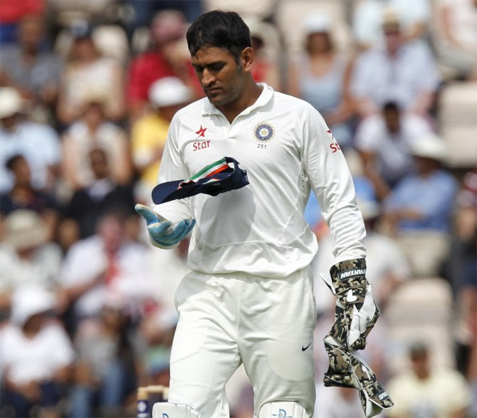 Dhoni has been sidelined for the first Test since the BCCI want him to be fully fit when the World Cup gets underway