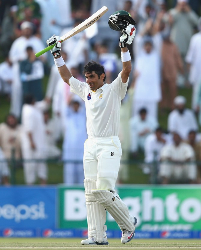 Ul-Haq is all smiles after bringing up his sixth Test century
