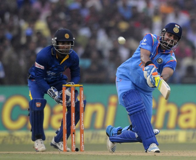 Raina hammered four boundaries and three sixes during his innings of 52