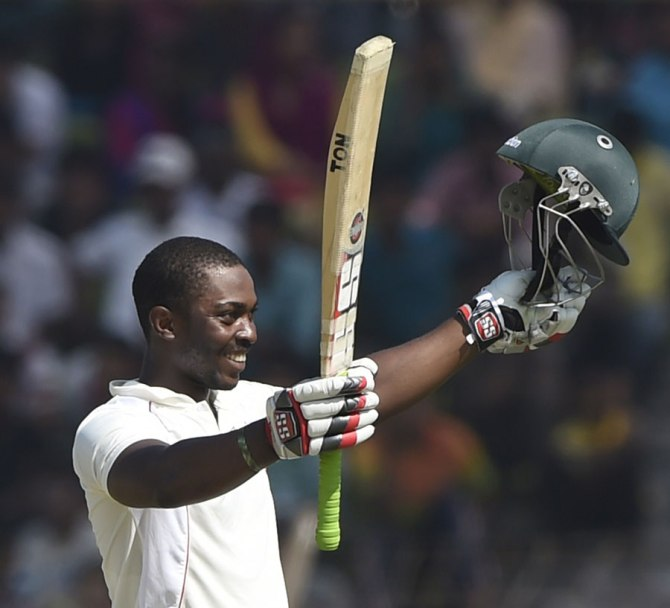 Chakabva is all smiles after scoring his maiden Test century