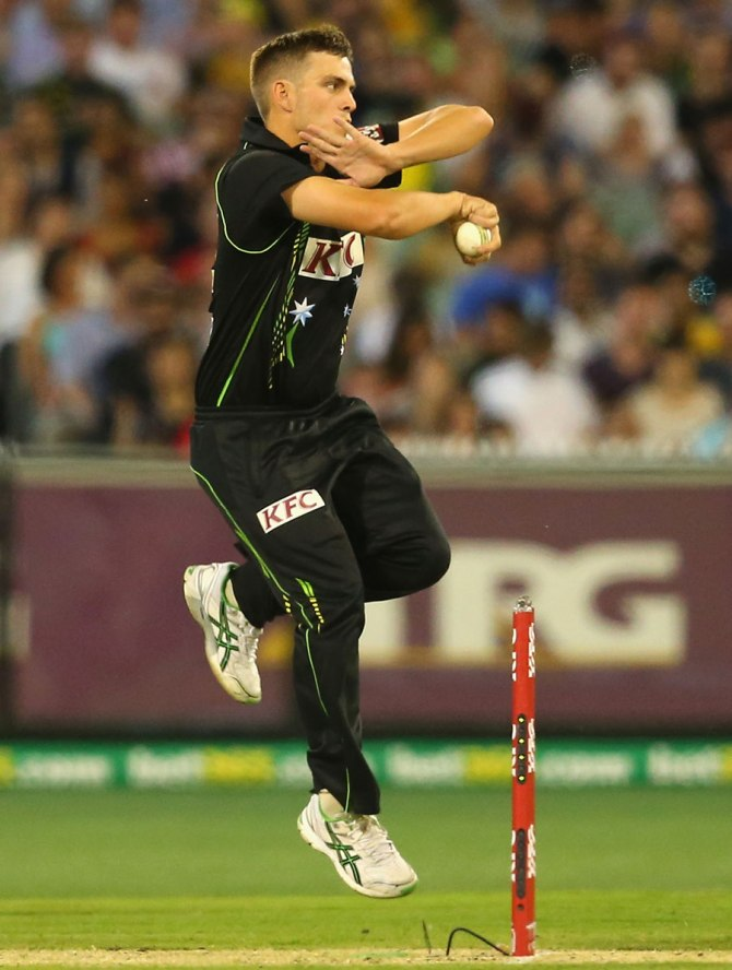 Boyce was named Man of the Match for his spectacular figures of 2-15 off four overs