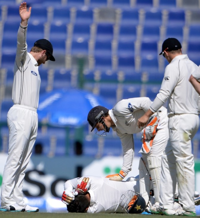 Shehzad suffered a minor skull fracture after being hit on the side of the head
