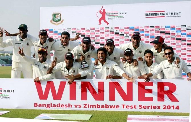 Bangladesh celebrate after whitewashing Zimbabwe 3-0